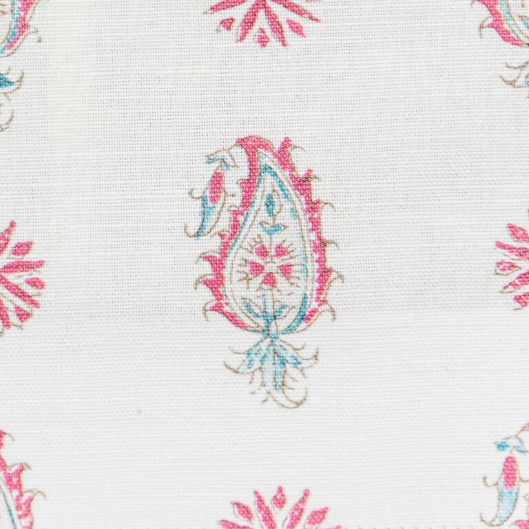 Persian Paisley colour 01 Aqua & Rose