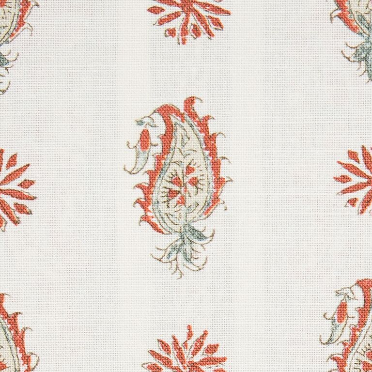 Persian Paisley colour 03 Terracotta & Sage