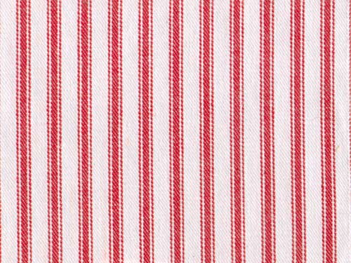 Ticking Stripe colour 06 Red